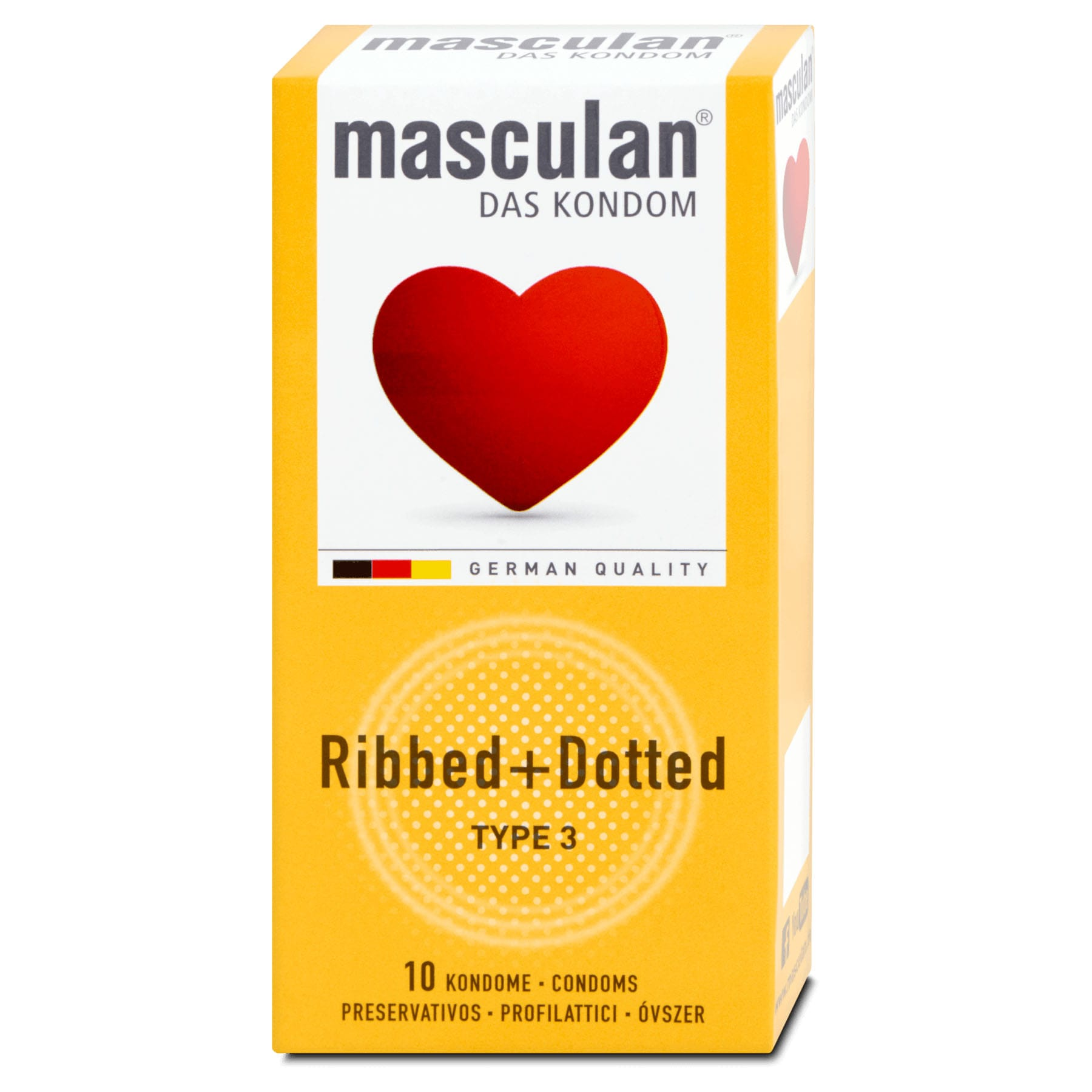 Masculan Ribbed + Dotted 10-pack