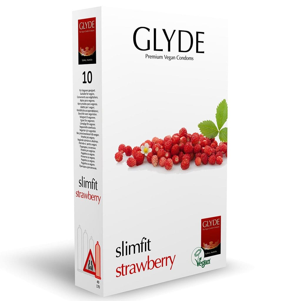 Glyde Slimfit Strawberry 10-pack