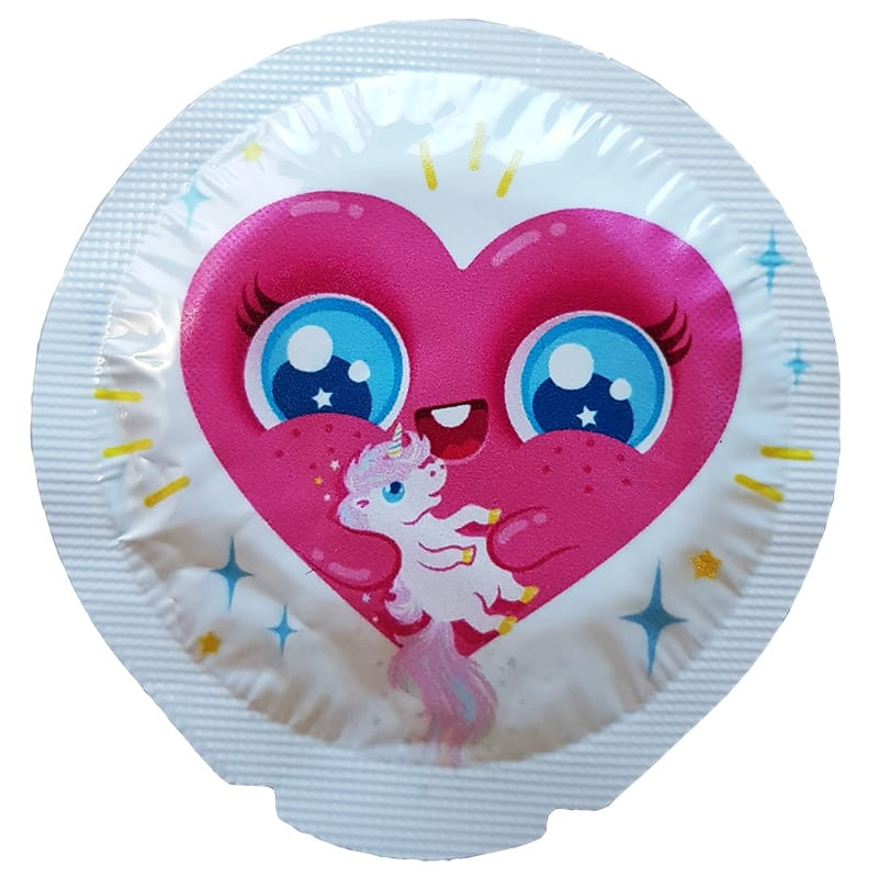 Happy Condoms Heart Loves Unicorn 1 st