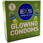 EXS Glowing Condoms 3-pack