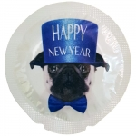 Happy Condoms Happy New Year Fransk Bulldog 1 st